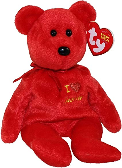 TY RED the BEAR BEANIE BABY MINT with MINT TAG
