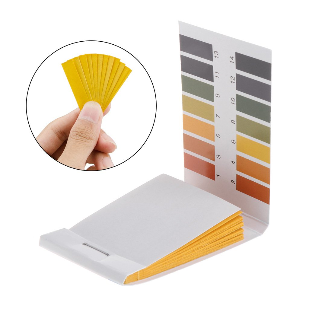 SimpleLife Test Paper 1-14PH Solution Strips Litmus Tool Kit Indicator Aquarium Pond 80 Pieces Test Paper Color Randomly 3.6x6cm/1.42x2.36in