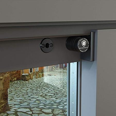 Magnetolock V2.0 REMACH(Negro).Bloqueo de seguridad para ventanas y puertas correderas. Bloqueo con ventana cerrada y abierta. Ajustable posición de ventilación para seguridad niños, bebé y mascotas.: Amazon.es: Hogar