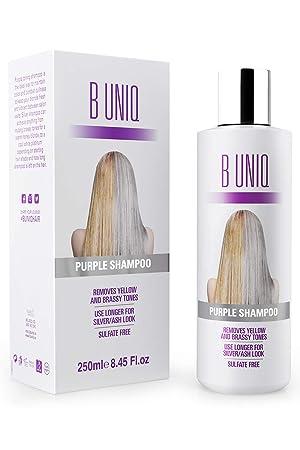 Purple Shampoo Von B Uniq Für Blonde Blondierte Gesträhnte Graue