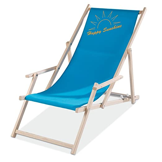 Klappliegestuhl  Sun Lounger Klappliegestuhl Blue, Sunshine: Amazon.co.uk: Kitchen ...