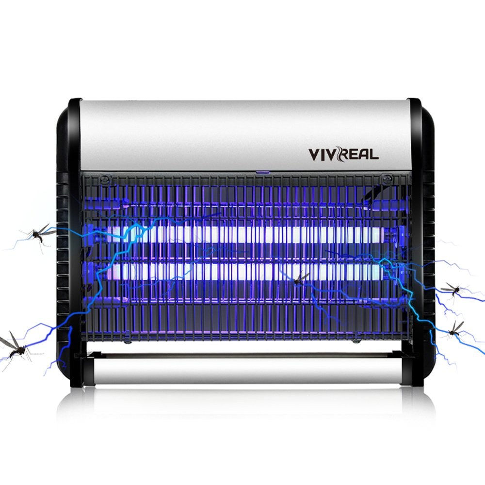 VIVREAL Bug Zapper - Fly Trap Mosquito Zapper 538 SQ.FT Coverage Indoor Bug Zapper Mosquito Killer Ideal Home Commercial Industrial Use, Indoor Mosquito Killer 19Watts. Full Refund Guarantee