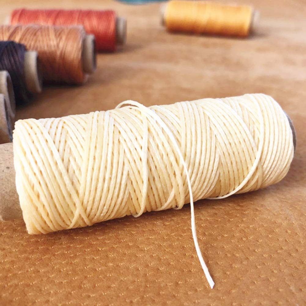 36 Colors Waxed Thread,1188Yards Colorful Leather Thread,33Yards Per Color Leather Sewing Thread,Hand Stitching Thread for Hand Sewing Leather and Bookbinding