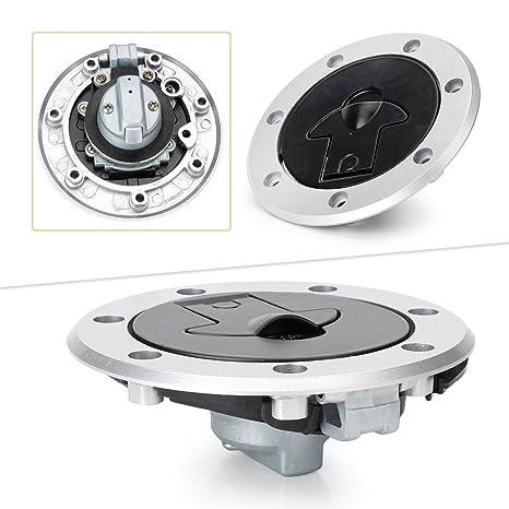 Amazon com: Timmart Fuel Gas Cap Cover Tank Lock Set w/2 Keys For