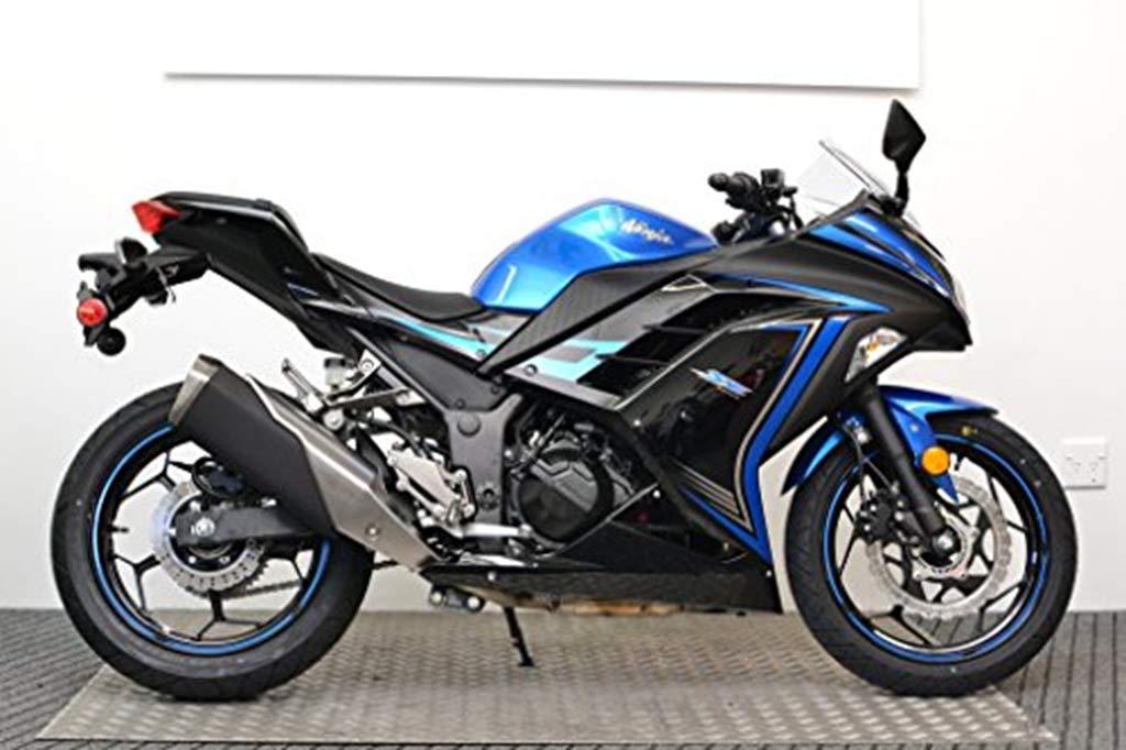 Azul w/negro pintado plástico ABS Inyección Kit carenado ...