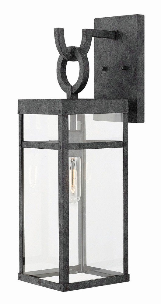 Hinkley 2804DZ Transitional One Light Outdoor Wall Mount from Porter collection in Bronze/Darkfinish,