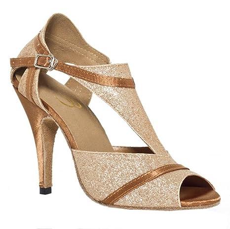 il più economico Il meglio del 2019 moda di vendita caldo scarpe da donna sandali da ballo latino cuoio salsa samba ...