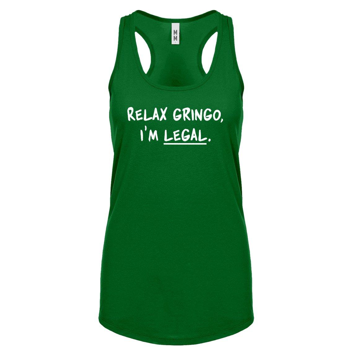 Indica Plateau Womens Relax Gringo Im Legal Racerback Tank Top