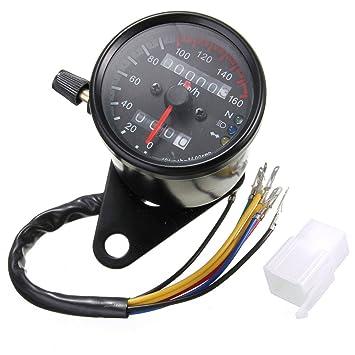 AUDEW 12V Universal Motorrad Tachometer LED Tacho Kilometerzähler ...