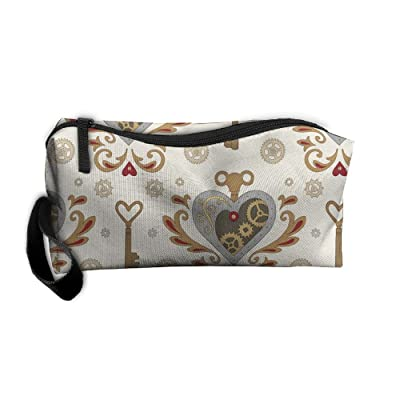 SDTTYHNM Travel Bag Cosmetic Bags Brush Pouch Steampunk Portable Makeup Bag Zipper Wallet Hangbag Pen Organizer Carry Case Wristlet Holder