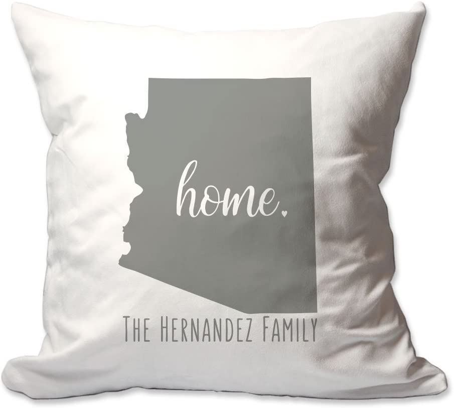 Pattern Pop Personalized State of Arizona Home Throw Pillow