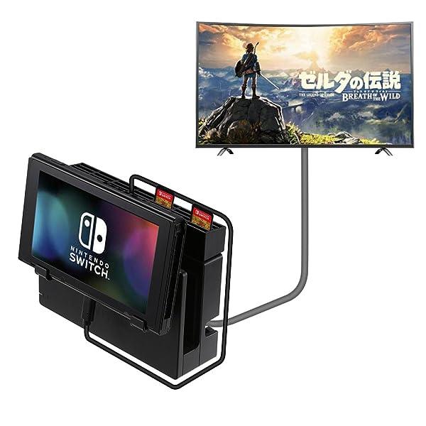 任天堂 Nintenndo Switch ケーブル ドックセット用 Type C 延長ケーブル 高速充電・データ転送 変換コネクタ USBケーブル ゲームカード収納可