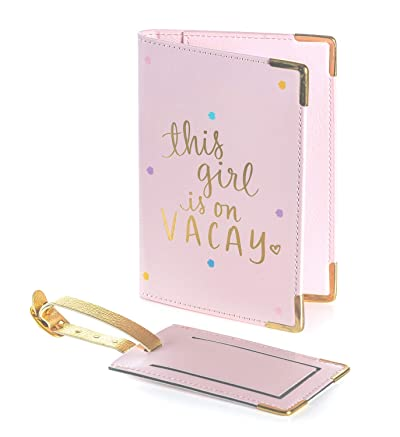 Dayna Lee Passport Cover Holder And Luggage Tag Set In Gift Box