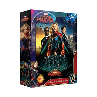 1000Piece Jigsaw Puzzle Marvel Captain Marvel Poster: Toys & Games