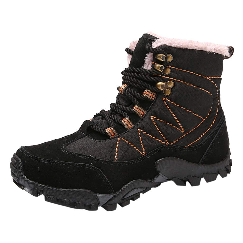 Mosunx Men High Top Boots, Boy's Casual Outdoor Tube Velvet Wear Non-Slip Tooling Military Breathable Boots Winter Warm Snow Boots by Mosunx