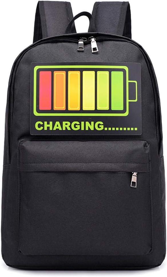 Voice Control Glowing Men Women School Bags For Girls Large ...