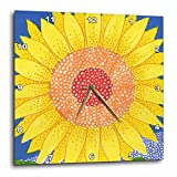 3dRose dpp_23304_2 Sunflower Sun Flower Bright Cheerful Yellow Flower Whimsical Illustration Bold Happy-Wall Clock, 13 by 13-Inch Review