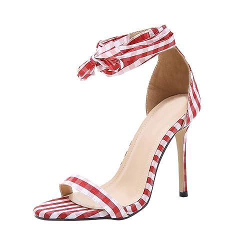 Darringls_Sandalias de Primavera Verano Mujer,Zapatos de Baile Latino de Tacón Alto/Medio para Mujer Brillo de Cuero Sandalias Medio Talón Zapatillas ...