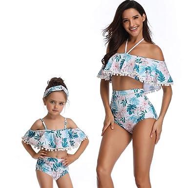 Maman Et Moi Maillot De Bain Assorti Mis Bikini Licou Maillot De Bain Monokini