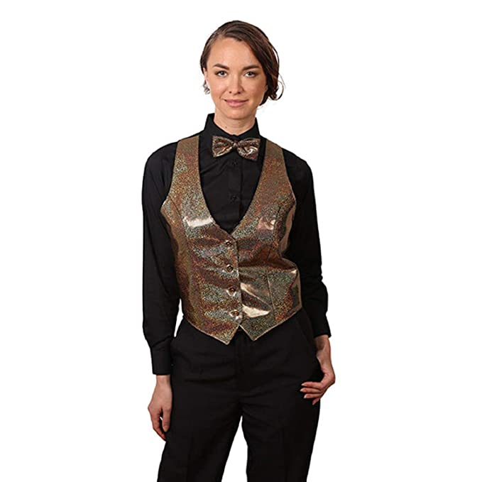 7757f4cd936d SixStarUniforms Women's Sparkling Vest and Matching Bow Tie