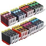 E-Z Ink (TM) Compatible Ink Cartridge Replacement For Canon CLI-8 8 (3 Black, 3 Cyan, 3 Magenta, 3 Yellow, 3 Photo Cyan, 3 Photo Magenta, 3 Red, 3 Green) 24 Pack For PIXMA Pro 6000 6500 9000 Mark II