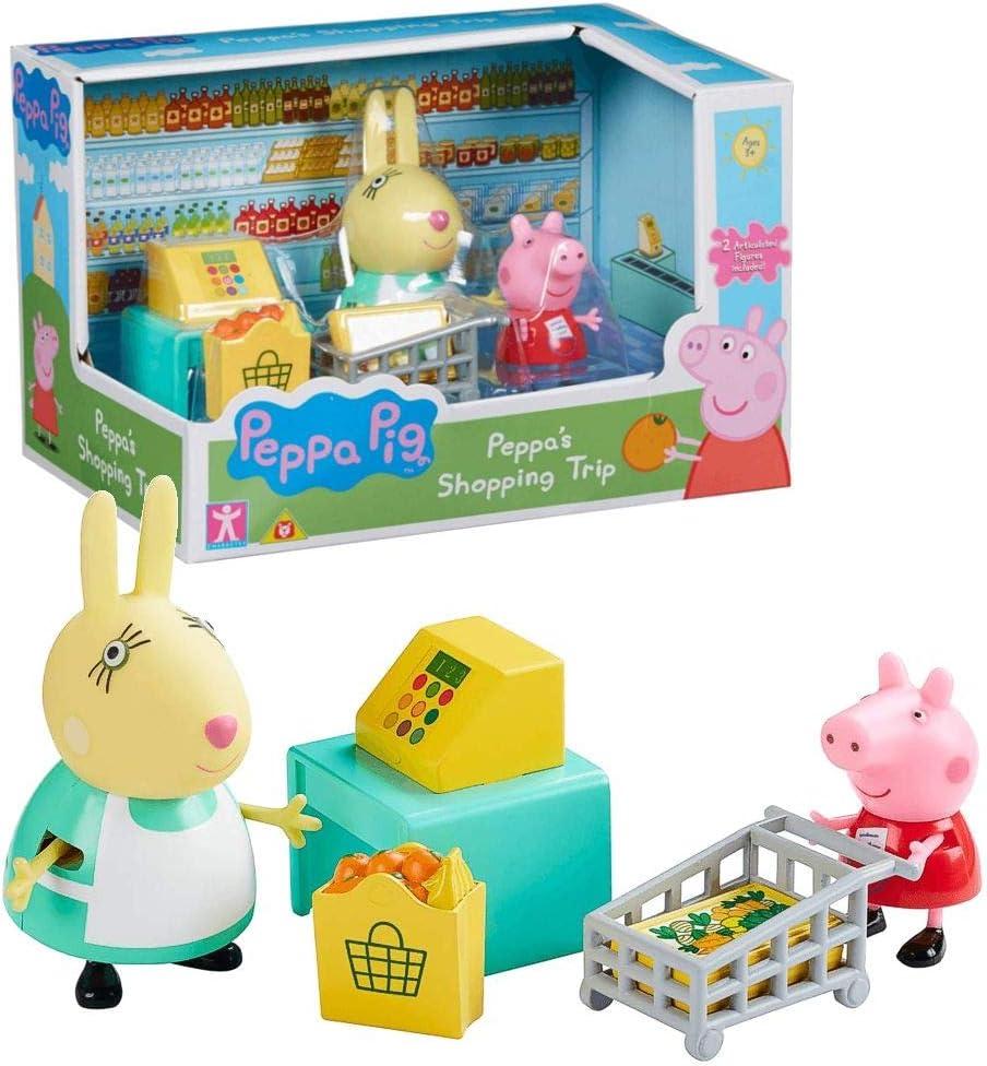 Peppa Pig Viaje Compras | Conjunto Juguetes Figura Peppa & Señora Coneja: Amazon.es: Juguetes y juegos