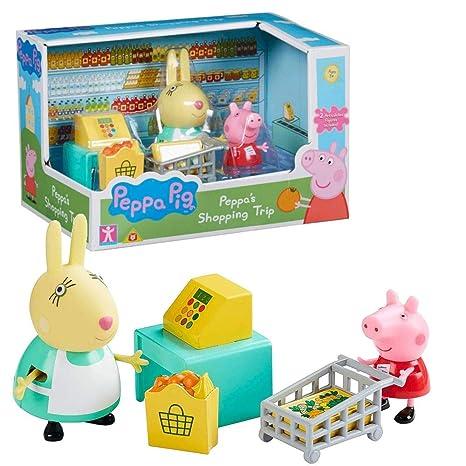 Character World Viaje Compras | Conjunto Juguetes | Peppa Pig | con Figura Peppa & Señora