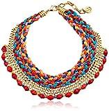 Ben-Amun Jewelry Multicolor Woven-Cord Bib Necklace