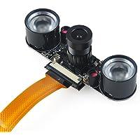 Makerfocus Raspberry Pi Zero W Camera Night Vision Webcam 2 Infrared IR LED Light for Raspberry Pi Zero and Zero W