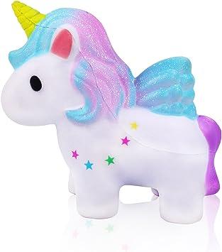 mi ji Squishy Kawaii,Squishy Unicornio,Squishy Doll de Diseño Animado Perfumada Lenta Levantar Exquisito Niño Juguete antiestrés (Galaxia): Amazon.es: Electrónica