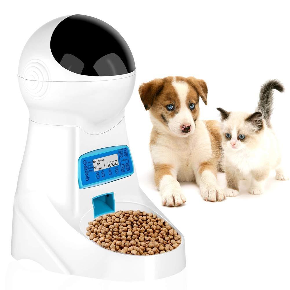 Yinrunx Pet Automatic Feeder Smart Dogs Cats Food Dispenser Puppy Kitten Feeding Bowl by Yinrunx (Image #1)
