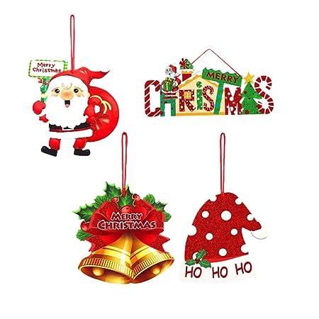 Amosfun - Cartel de Navidad para Colgar en la Puerta, diseño ...