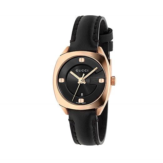 GUCCI Reloj de Mujer GG22570 Chapado en Oro Rosa de Cuero 29mm YA142509: Amazon.es: Relojes