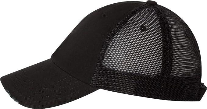Megacap Organic Cotton Mesh Cap Trucker Baseball Hat 6887 Unstructured Frayed