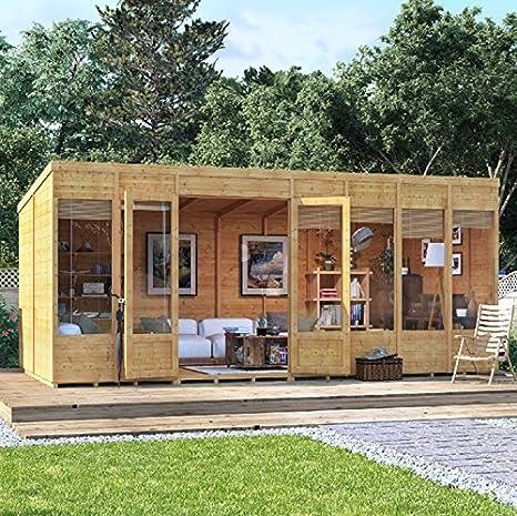 Casa de verano para el jardín moderna BillyOh Bella Tongue and Groove para descansar, con techo y de fieltro: Amazon.es: Jardín