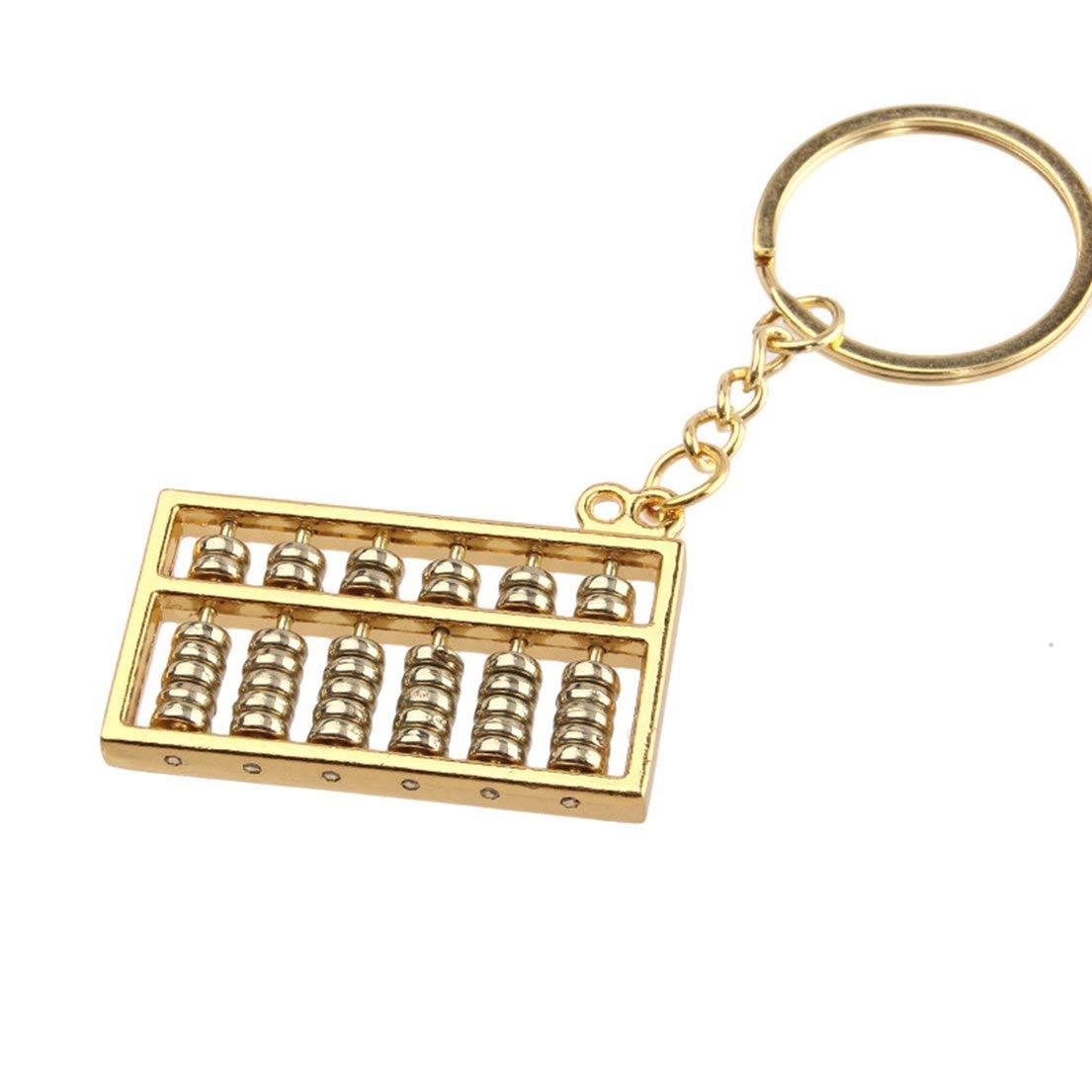 Kleine 6 File Metal Abacus Keychain Gold DFHJS