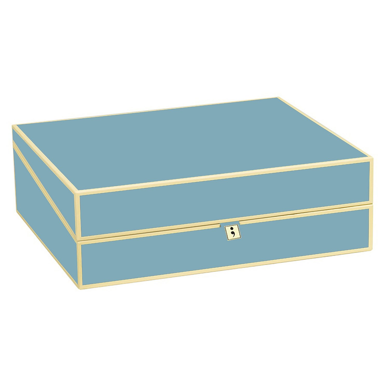 Semikolon Letter Size / A4 Size Document Storage Box, Ciel - Light Blue