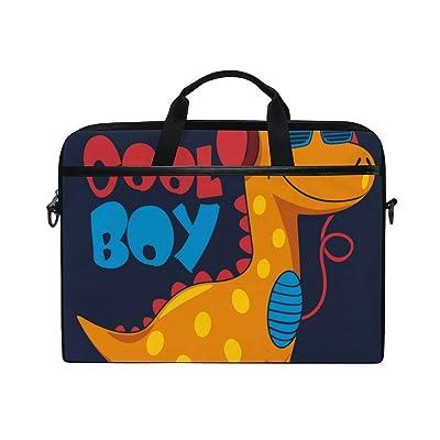 ALAZA Cool Boy Cartoon Dinosaur Laptop Bag Shoulder Bag Briefcase Messenger Tablet Bag 15 15.6 Inch for Women Men