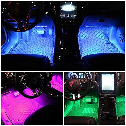 car led strip light dland multicolor music car interior lights with 4pcs 48 leds music led. Black Bedroom Furniture Sets. Home Design Ideas