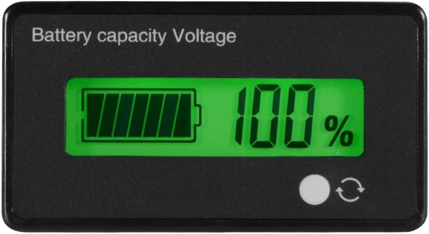 12//24//36V LCD Bleisäure Batterie Kapazität Voltmeter Spannungsmesser