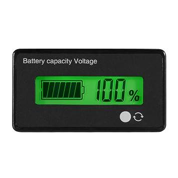 LCD Display Volt Tester Battery Capacity 12//24//36//48V Voltmeter Monitor Meter