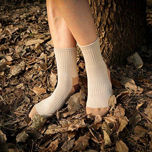 Women's Athletic Ankle Quarter Cushion Socks Thick Cotton Padded Mini Crew Socks for Tennis Running Fitness