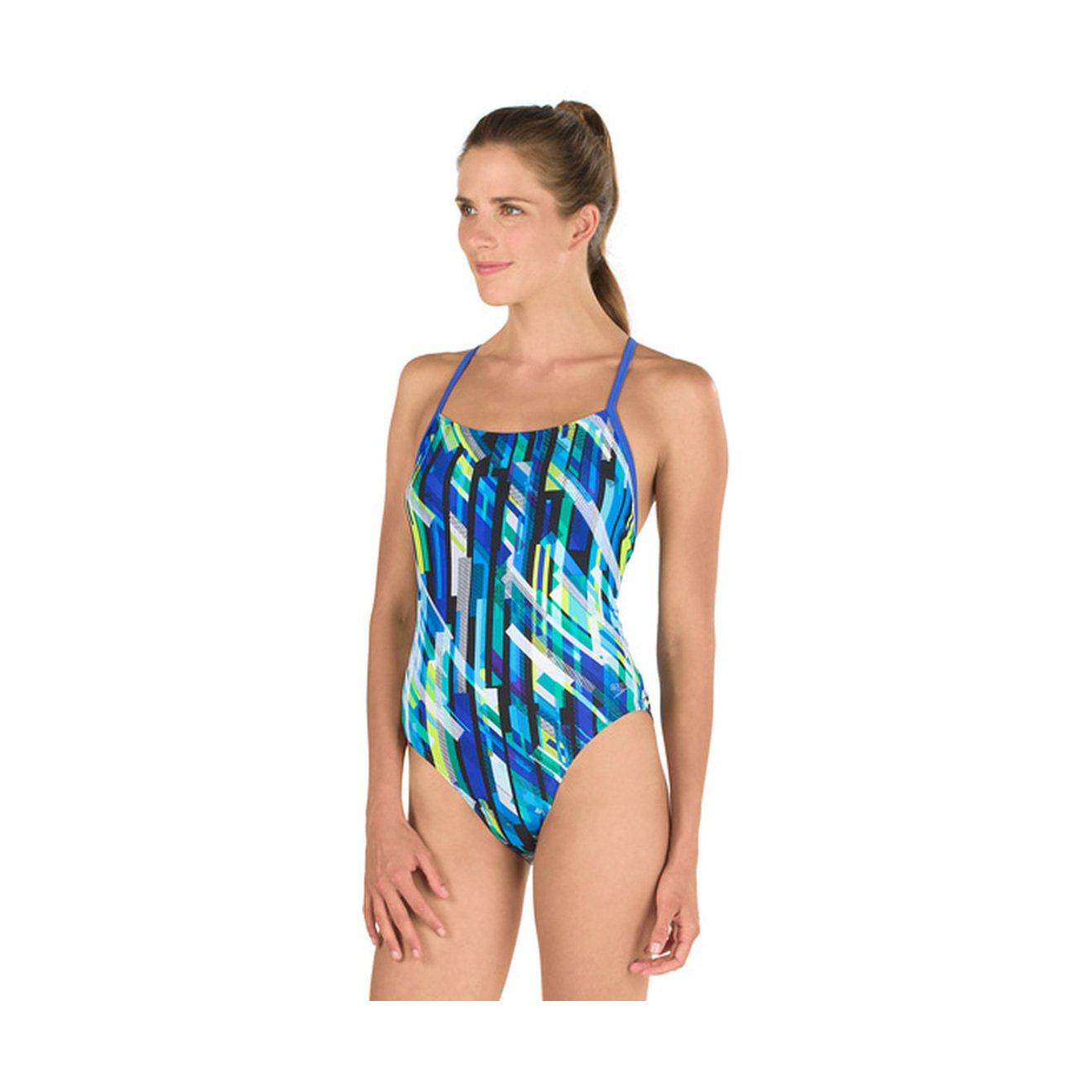 Speedo Geo嵐リレーBack Pro LT One Piece Swimsuit B076F8N8W1 Size 14/40|Deep Peri