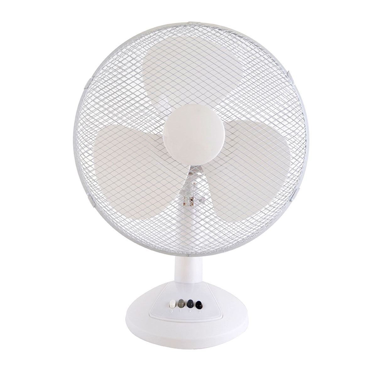 Lloytron F1021WH Stay Cool Desk Fan, 50 W, 40 cm, White