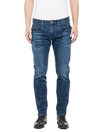 Mens Anbass Coin Zip Slim Jeans Replay S3dqDRqmNy