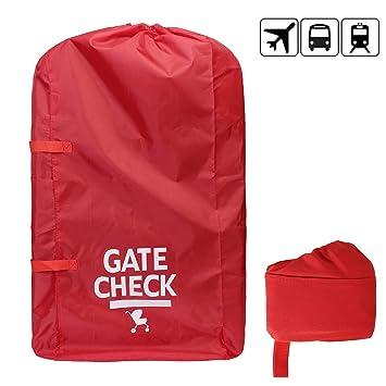 Bolsa de viaje con asa de cincha para cochecitos est/ándar y dobles color rojo # 81559
