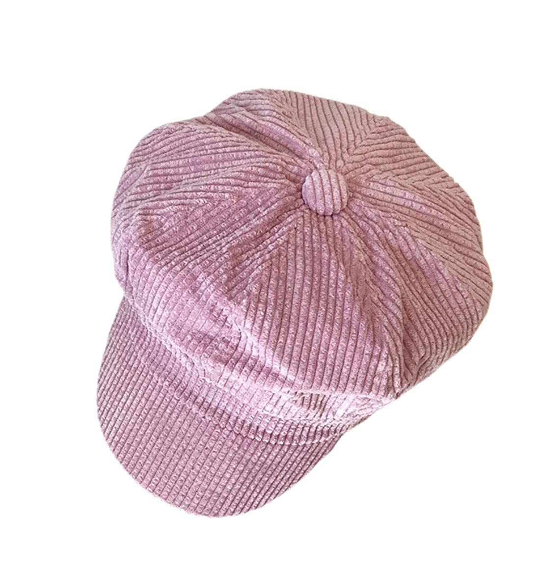 ACVIP Women's Candy Color Corduroy Newsboy Cap Baker Boy Hat
