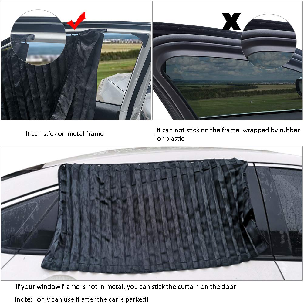 Magnet Beige Magnetic Window Curtains Protects Your Baby and Older Kids from The Sun Baby Beige Sun Shades ZATOOTO Side Window Sunshades for Car 2 Pcs