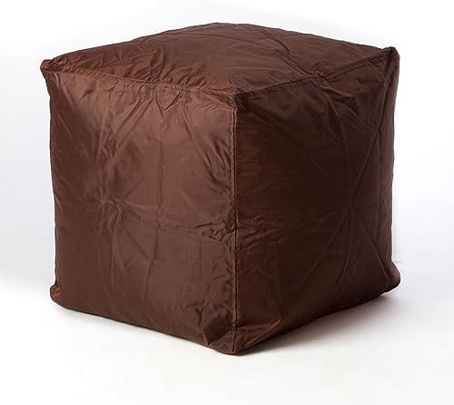 Editors' Choice: Bean Bag Cube Ottoman Footstool Brown | | Nylon Fabric