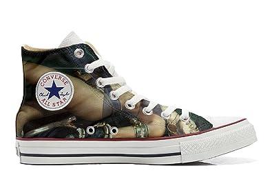 Converse Custom - personalisierte Schuhe (Handwerk Produkt) woman Aggresive  39 EU